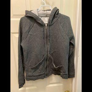 3/20$ Fabletics ladies large grey zip up hoodie